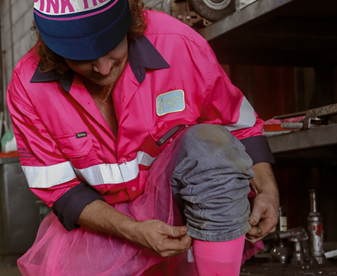 Continuing a legacy as tradies pink up